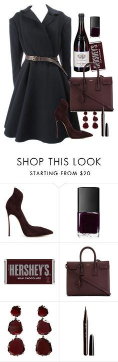 """Без названия #389"" by kristinabragina ❤ liked on Polyvore featuring Burberry, Casadei, NARS Cosmetics, Hershey's, Yves Saint Laurent, Annoushka, Marc Jacobs, women's clothing, women and female"
