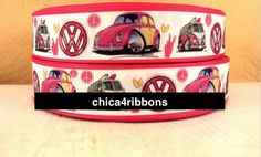 "1"" 25mm VW Bug Car Printed Grosgrain Ribbon by the Yard for Hair Bows, Headbands, Lanyard, Sewing, Scrapbook, Crafts, Pet Collar, Key Fob by chica4ribbons on Etsy https://www.etsy.com/listing/208993964/1-25mm-vw-bug-car-printed-grosgrain"