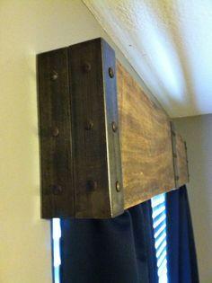 Kitchen Window Valance Ideas Hardware 67 Ideas For 2019 Wood Windows, Wooden Valance, Rustic Industrial Furniture, Home, Wood Cornice, Home Diy, Diy Window, Rustic Window, Window Cornices