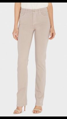 Not Your Daughters Jeans Beige Straight Leg Jeans Women's Plus Size 24W NWT $178 #NotYourDaughtersJeans #StraightLeg