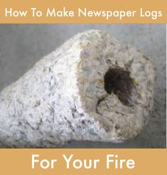How To Make Newspaper Logs For Your Fire...http://homestead-and-survival.com/how-to-make-newspaper-logs-for-your-fire/