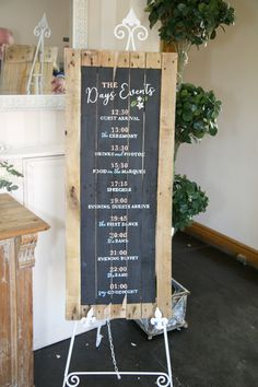Hand Painted Signage by Paper Date. Vintage, rustic and chalk paint. Part of the 'BLOOMS' collection.