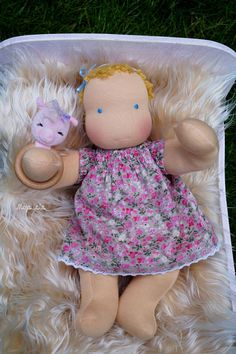 Reserved for Eva. Maya  baby waldorf doll 14.17 by Mojalala