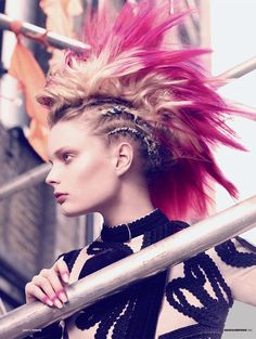 ///the modern mohawk #hair