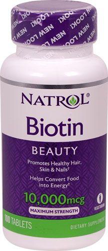 Natrol Biotin 10000 Mcg 100 Tablets Natrol Biotin Biotin Promote Healthy Hair