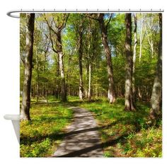 Hiking Trail Shower Curtain on CafePress.com