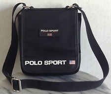 1c645a52e1 Polo Sport Ralph Lauren Vintage Bag Spell Out Flag Black Fabric Red White  Blue
