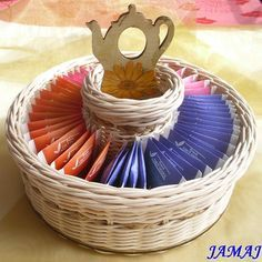 вазочка для чайных пакетов