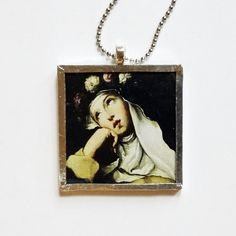 Your place to buy and sell all things handmade St Rose Of Lima, Ball Chain, White Roses, True Love, Saints, Portrait, Painting, Beautiful, Jewelry