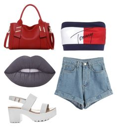 """""""Untitled #3"""" by jerriyah-alanasia on Polyvore featuring WithChic, Tommy Hilfiger, LineShow and Lime Crime"""