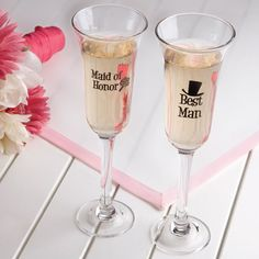 Maid of Honor and Best Man Glasses
