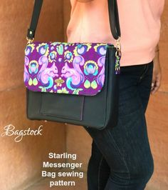 Messenger Bags Kids Small Handbag Purse Horse Print for Organizing