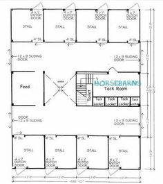 Horse Barn Design Ideas 2 stall monitor style horse barn design floor plan 8 Stall Horse Barn Plan