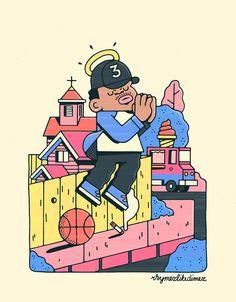 Chance the Rapper by rhymezlikedimez Dope Cartoon Art, Dope Cartoons, Cartoon Kunst, Black Cartoon, Cartoon Drawings, Arte Hip Hop, Hip Hop Art, Chance The Rapper Art, Character Illustration