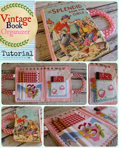 Kaleidoscope of Colors: Vintage Book Organizer Tutorial