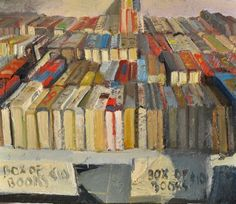 Box of books - Duane Keiser (here's an interview with Keiser about his art. / http://huffingtonpost.com/john-seed/duane-keiser-a-painting-a_b_2776043.html)