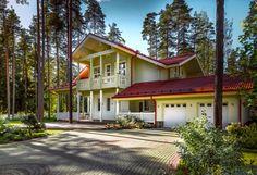 """The Sun House"" -modellen – Stort timmerhus från Finland Log Houses, Wooden Houses, Sun House, House Colors, Arctic, Finland, House Design, Cabin, Traditional"