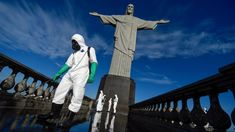 The new variant spreading around Brazil has shown signs that it can reinfect people who have already had the virus (Credit: Mauro Pimentel/Getty Images) Philippine News, One Wave, University Of North Carolina, Outdoor Sculpture, Flu Season, Trending Videos, Statue Of Liberty, Live News, Facebook