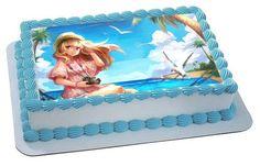 Beautiful Girl Edible Birthday Cake Topper OR Cupcake Topper, Decor