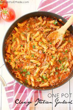 One Pot Cheesy Italian Goulash