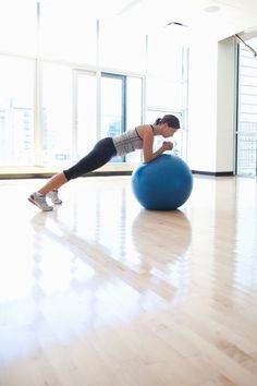 Can you keep up with this advanced ab workout: Advanced Ab Workout: Plank on an Exercise Ball #AbWorkouts