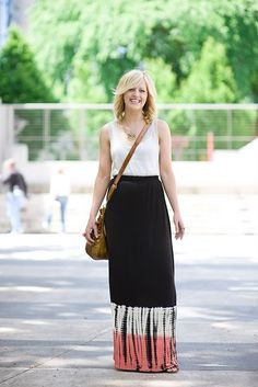 I'm loving long skirts this summer.