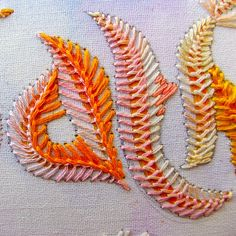 Feather embroidery stitch