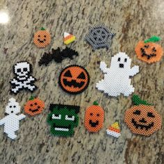 Halloween ornaments hama perler beads by tabbymr