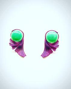 Ginkgo earrings chrysoprase titanium Made in switzerland Jewelry Art, Jewelry Design, Jewellery, 3d Printed Jewelry, Titanium Jewelry, Blog Design, Switzerland, Earrings, Photos