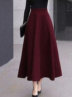 Stylish High Waist Big Hem Hairy Maxi Skirt - - Style High Waist Big Hem Woolen Maxi Skirt Source by ezpopsy Muslim Fashion, Modest Fashion, Hijab Fashion, Fashion Dresses, Long Skirt Fashion, Feminine Fashion, Fashion Sewing, Emo Fashion, Fashion Watches