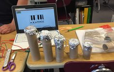 A musical instrument with Scratch and Makey Makey.