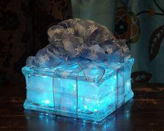 Vintage Clear Glass Block Light