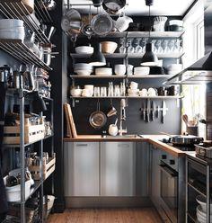 Love the kitchen storage!