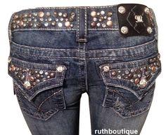 Miss Me Size 26 Jeans Beautiful Crystal Studs & Glitz JW4288B31 Boot Cut  #MissMe #BootCut