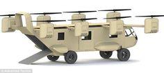 Flying Military Hybrid Vehicles : Black Night Transformer
