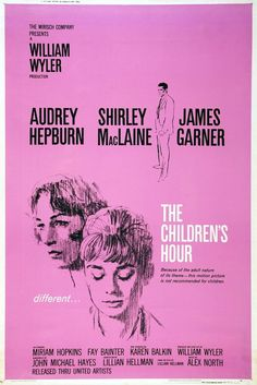 The Children's Hour - IMDb Directed by William Wyler. With Audrey Hepburn, Shirley MacLaine, James Garner, Miriam Hopkins. A troublemaking student at a girls' school accuses two teachers of being lesbians. Miriam Hopkins, Jean Simmons, Gregory Peck, Old Movies, Vintage Movies, Titanic, Veronica Cartwright, Michael Hayes, Teresa Wright
