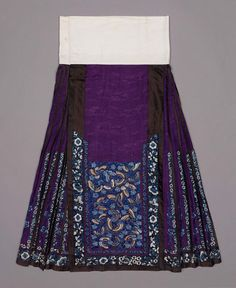 Woman's Domestic Skirt  Late 19th Century   Qing Dynasty