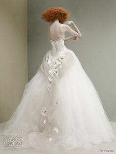 St. Pucchi 2012 couture bridal collection - add your hair, gloves, dripping down back jewels for your very own style