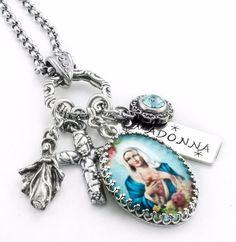 Madonna Necklace, Religious Necklace, Catholic Jewelry