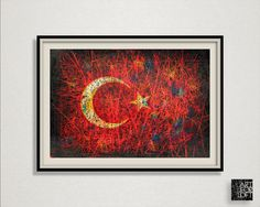 A personal favourite from my Etsy shop https://www.etsy.com/listing/472426861/turkey-flag-hand-painted-flag-of-turkey