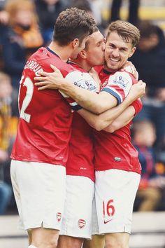 Giroud, Podolski, Ramsey
