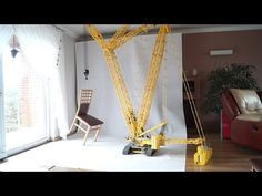 This Massive Lego Crane Fills an Entire Living Room | Make: