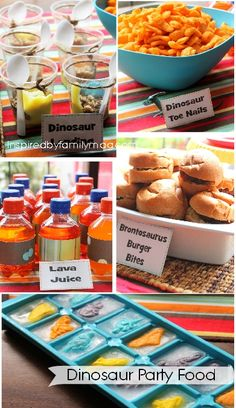 WEBSITE with dinosaur party food ideas and lots of other ideas!