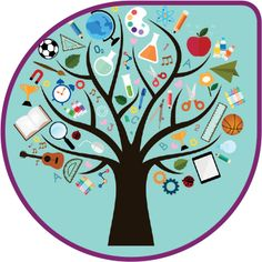 Vector Icons of study are many branches like tree Illustration ,