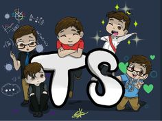 Thomas, Patton, Roman, Logan, and anxiety!! They're so cute!!!