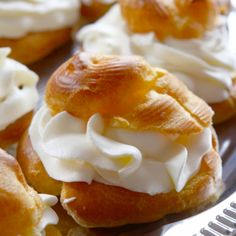 Always been intimidated by cream puffs? This easy cream puff recipe will make you feel like a baking rock star!. Easy Cream Puffs Recipe from Grandmothers Kitchen.