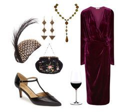 """""""alara kuin 1920ler balo daveti"""" by melikeyigit ❤ liked on Polyvore featuring Trotters, Riedel, Attico and Lulu Frost"""