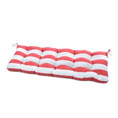 Greendale Home Fashions Cabana Stripe Outdoor Bench Cushion Patio Seat Cushions, Rocking Chair Cushions, Outdoor Cushions, Outdoor Blanket, Aloha Black, Outdoor Cabana, Floral Pillows, Modern Prints, Red And Blue