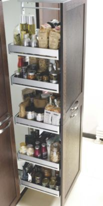 it Kitchens Pullout Larder System for 600mm Unit, Metallic Effect, 0000003595091