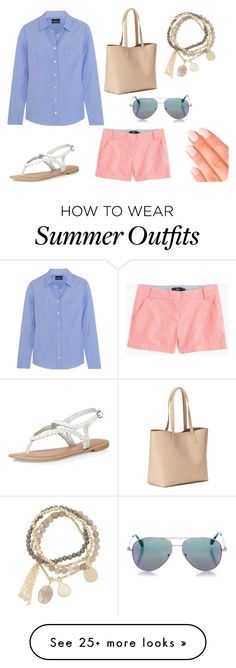 """#33 Preppy Summer Outfit"" by crazykitsune on Polyvore featuring J.Crew, Dorothy Perkins, Old Navy, DesignSix, Elegant Touch and Cutler and Gross"